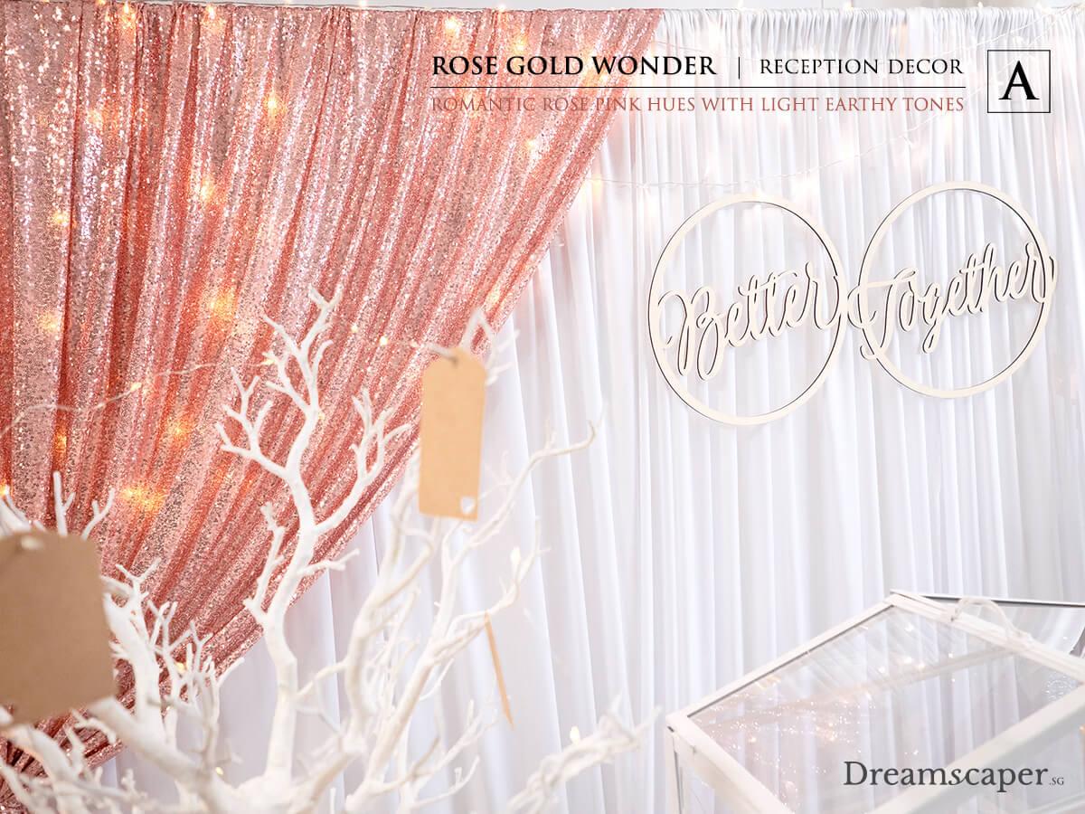Rose Gold Theme Wedding Decor