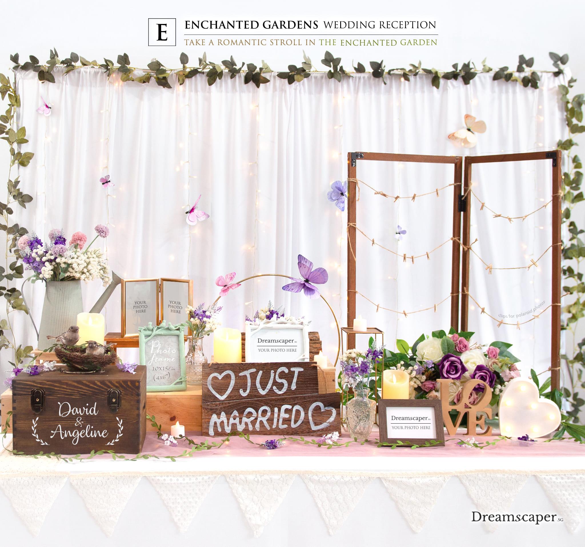 Enchanted Garden Wedding Reception Package Singapore