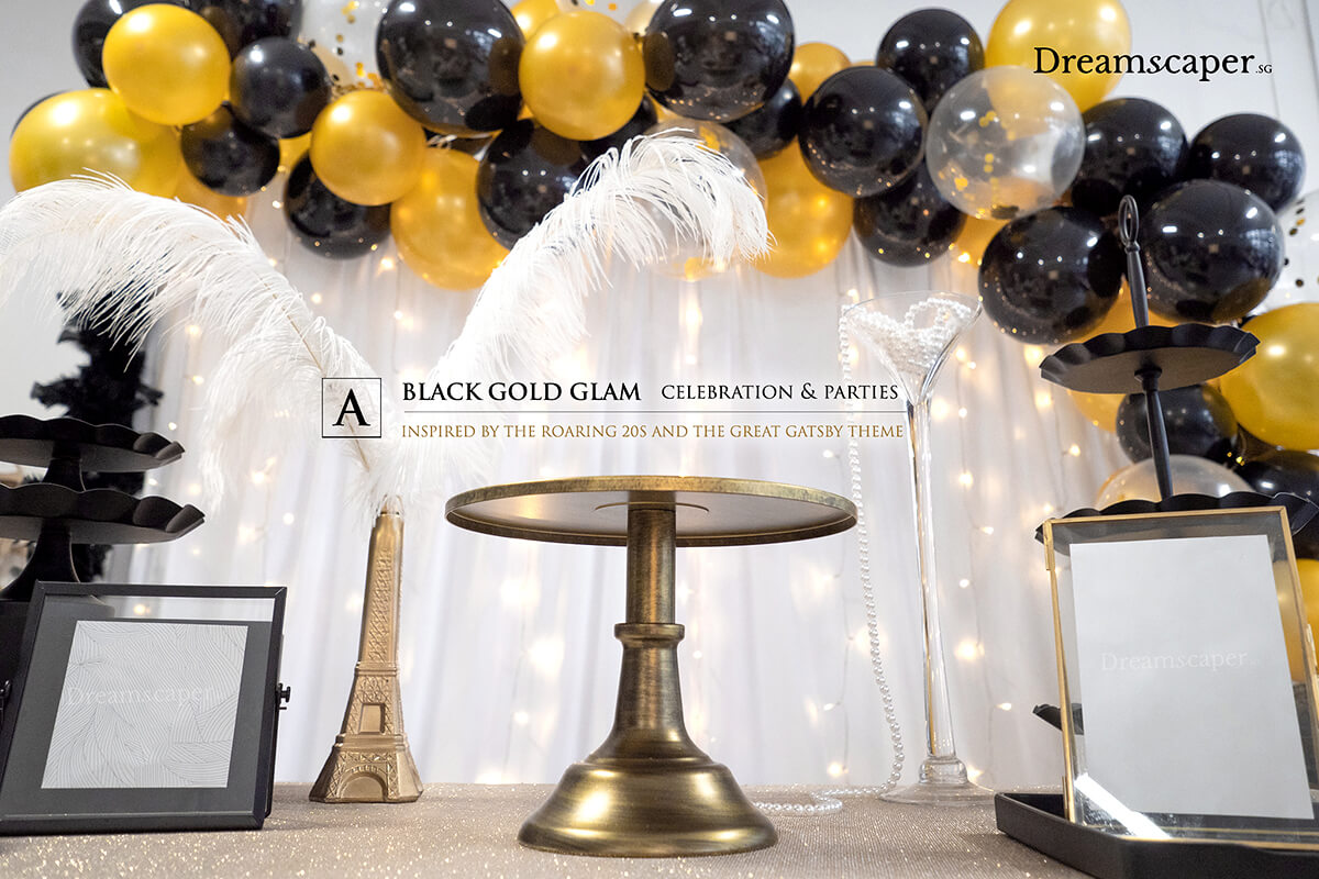 Black Gold Theme Party Ideas