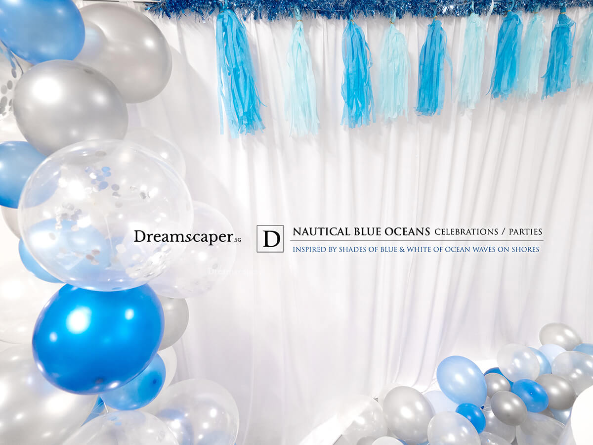Blue and White Birthday Theme