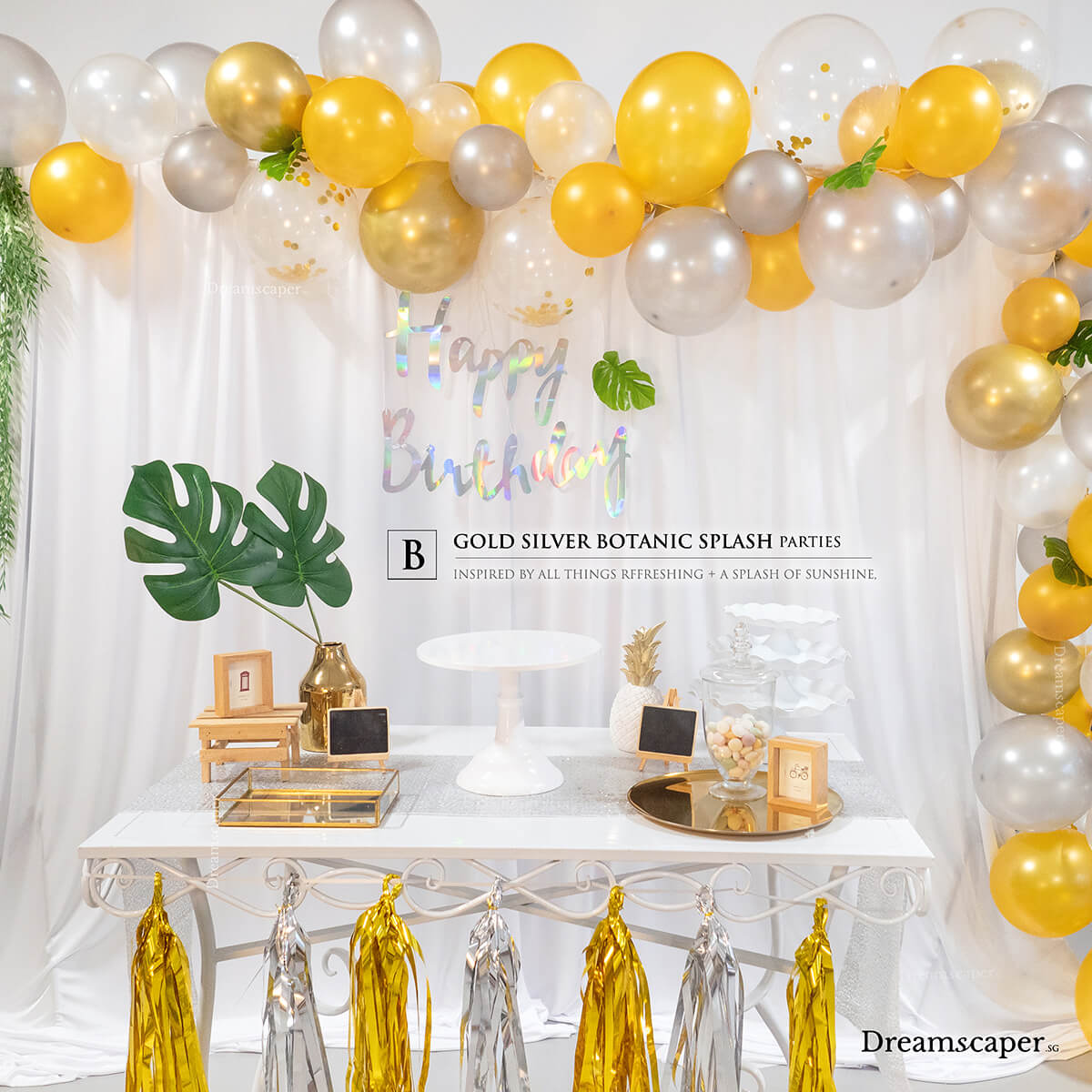 Garden Birthday Party Decoration Package Singapore