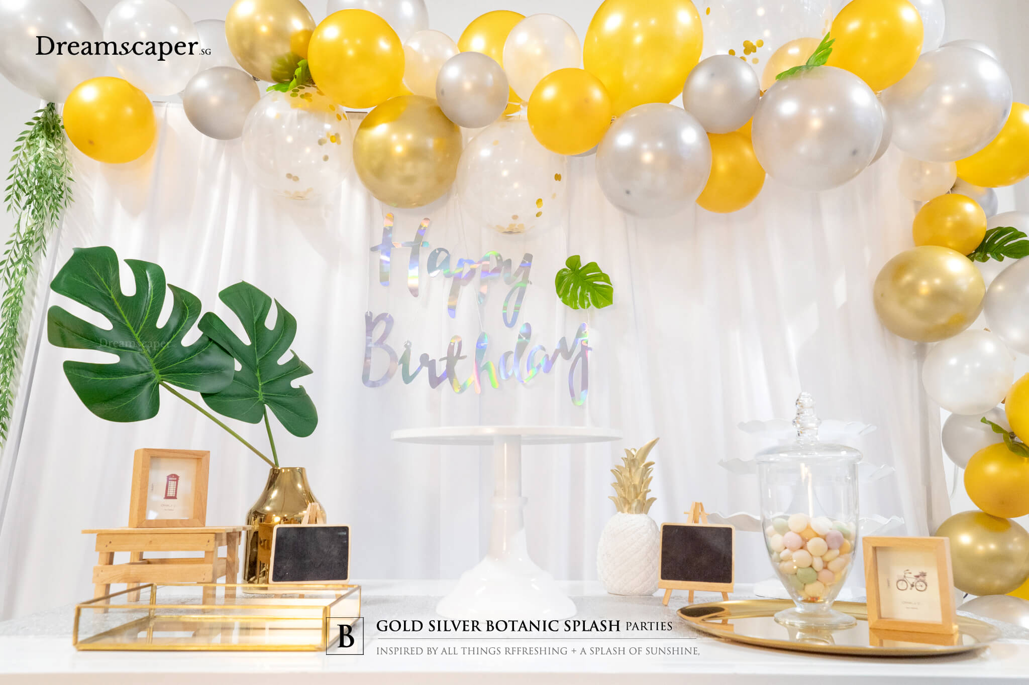 Gold Silver Party Theme Singapore