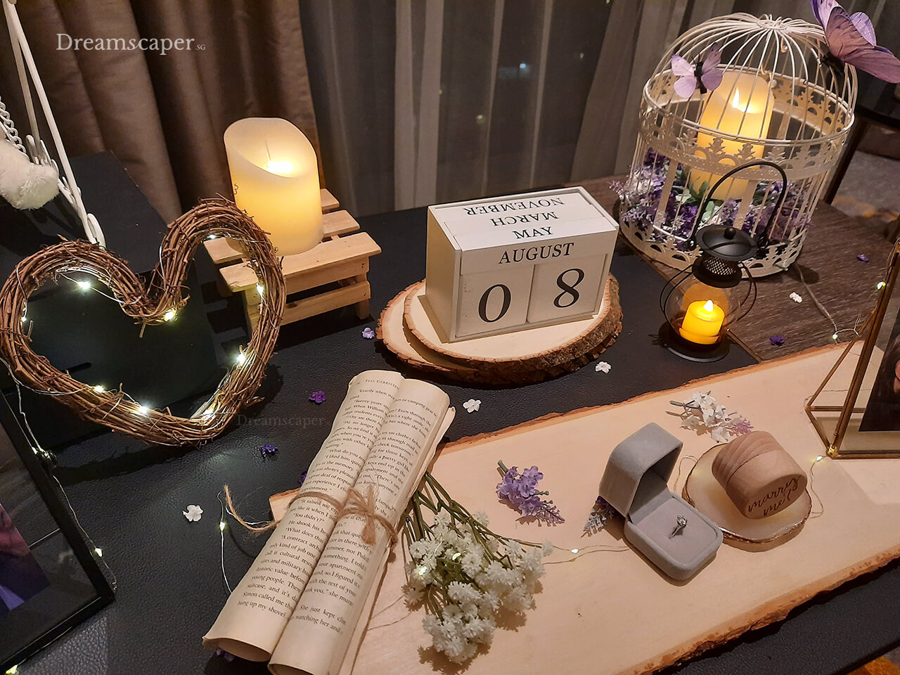 Surprise Proposal Decoration at Sofitel Hotel Singapore