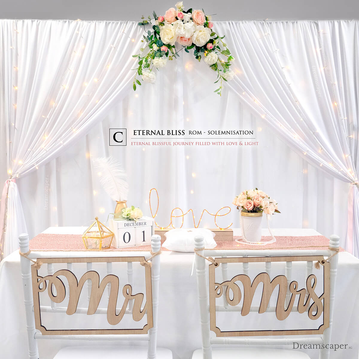 ROM Solemnization Decoration Setup
