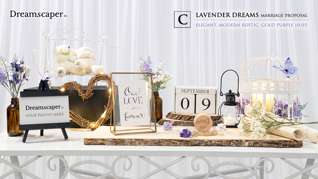 Singapore Marriage Proposal Package - Lavender Dreams