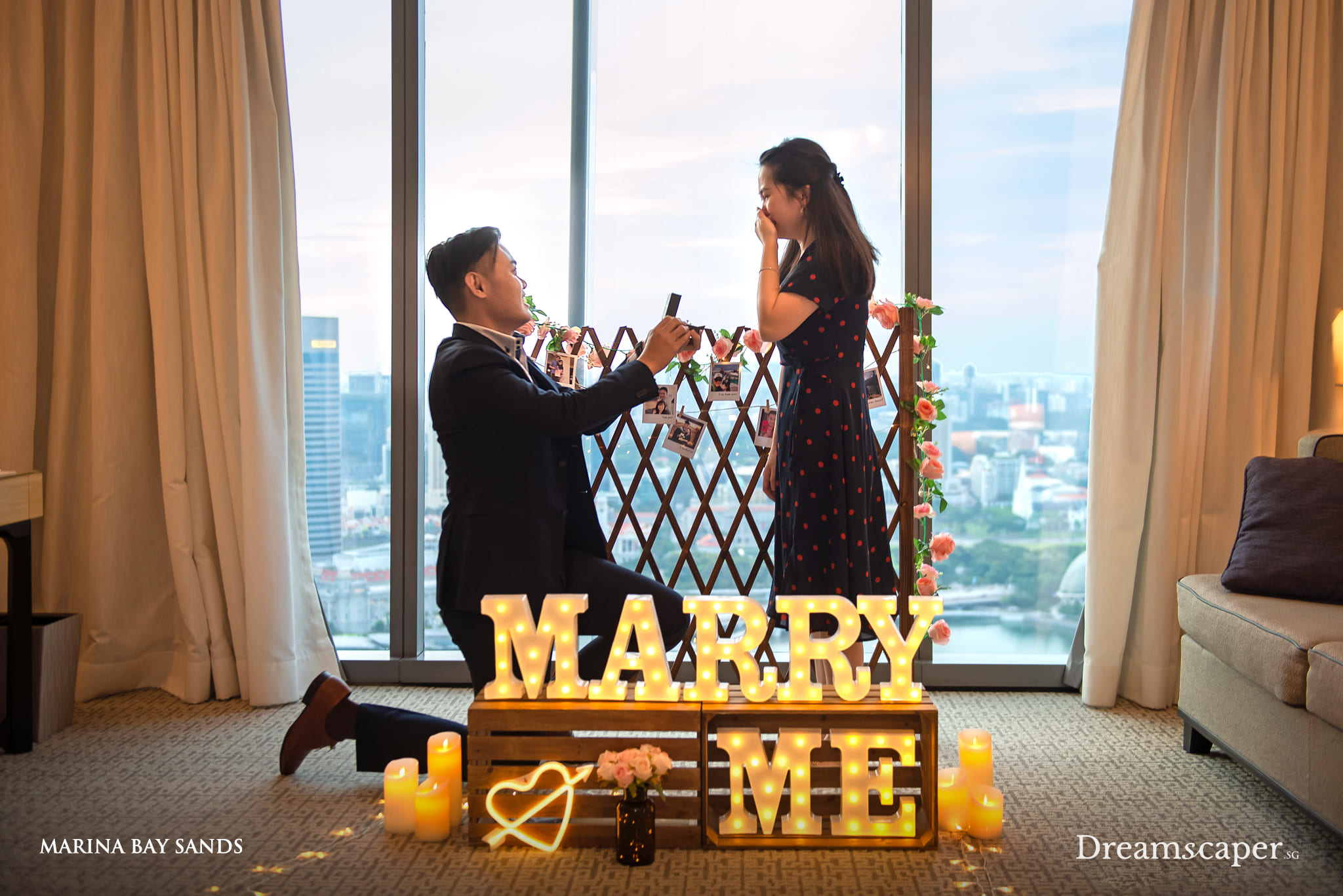 Singapore Marriage Proposal at Mariina Bay Sands