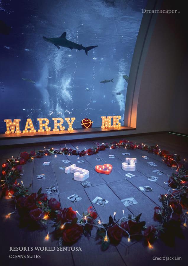 Singapore Marriage Proposal Resort World Sentosa