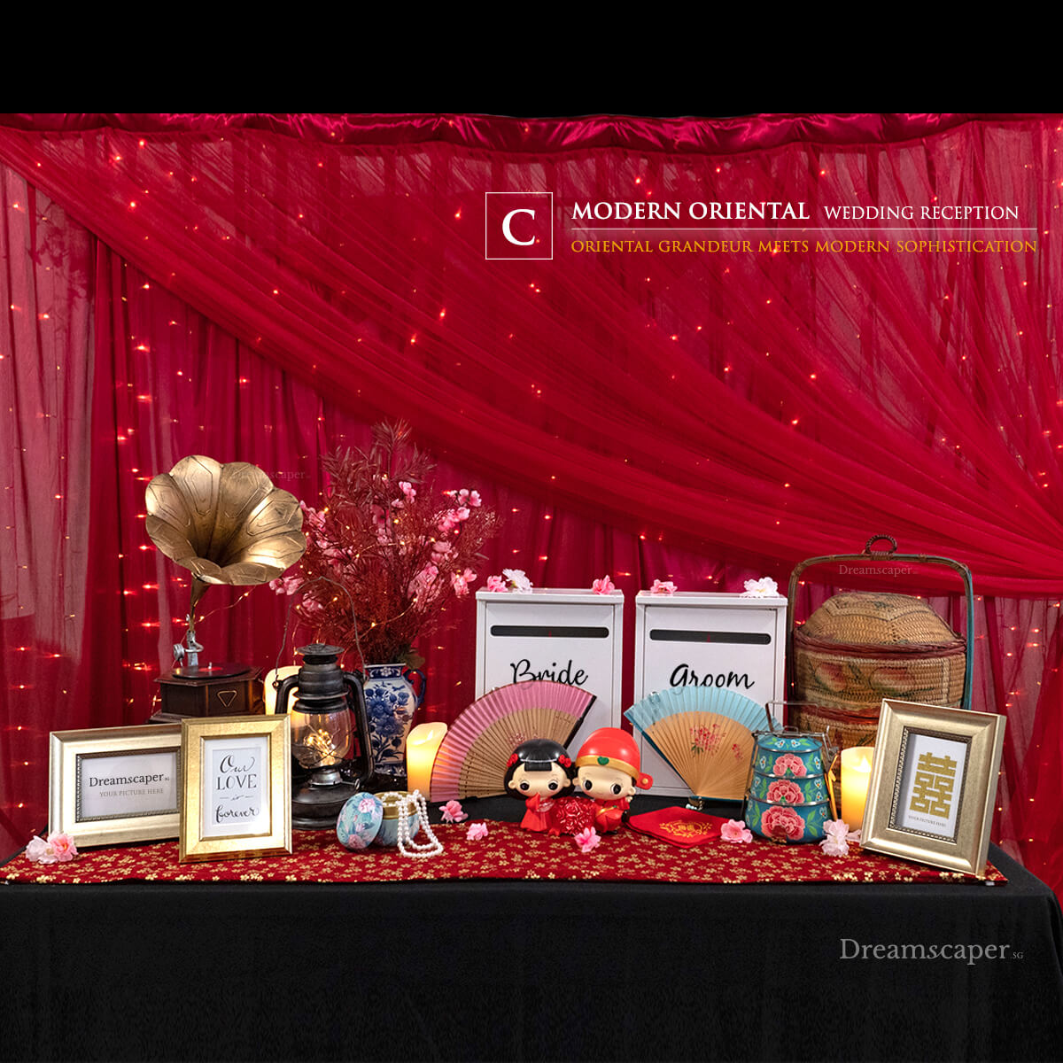 Modern Oriental Wedding Reception Package Singapore