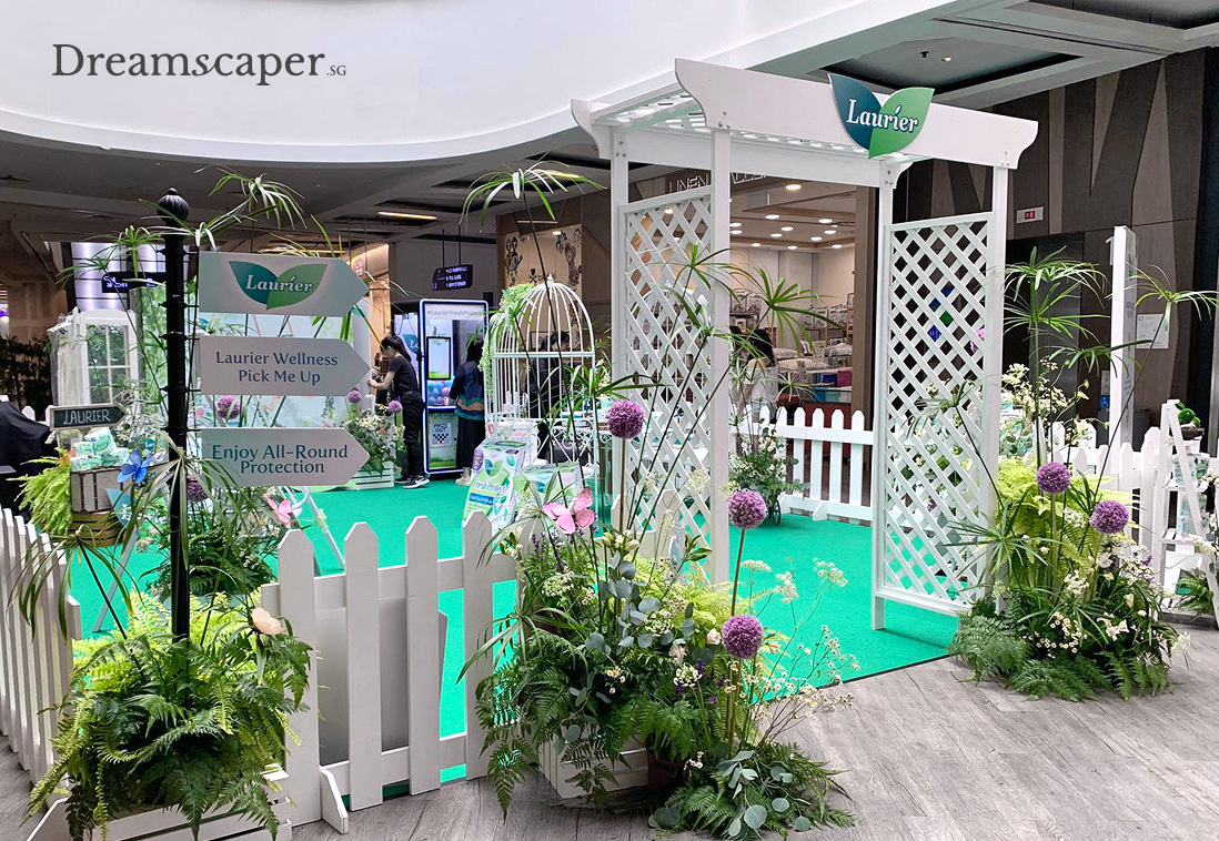 White Wooden Arbor at Mall Event